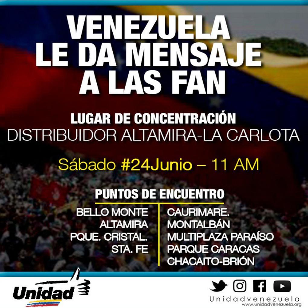 Marcha 24 de junio de la oposición en honor a David Vallenilla