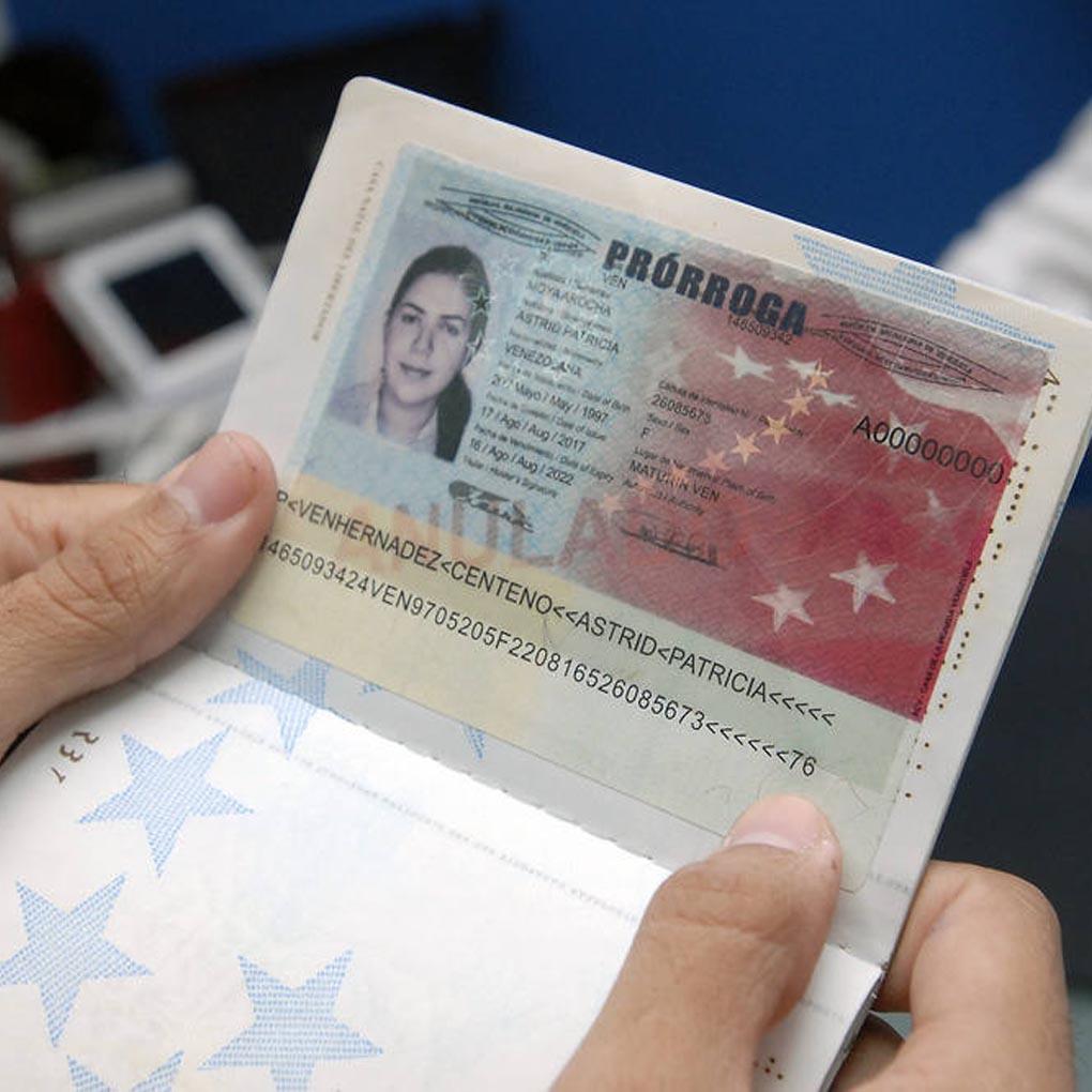 Prórroga de pasaporte venezolano Saime
