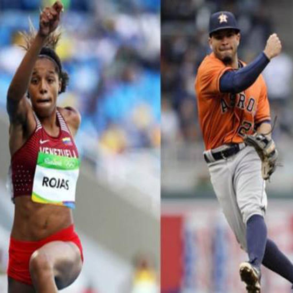 Yulimar Rojas y José Altuve elegidos atletas del año 2017