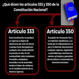 Ciudadanos resteados con el artículo 350 de la Constitución