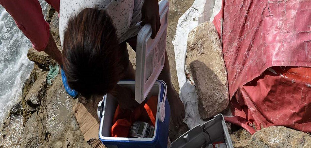 Venezolanos se las ingenian en la playa para pagar sin efectivo