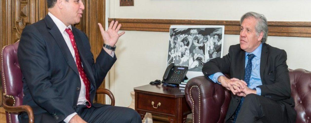 Almagro y Florido discutieron sobre éxodo venezolano