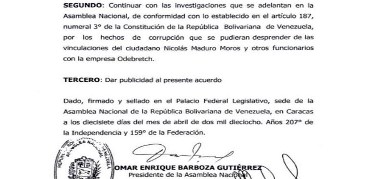 Diputado del partido de Falcón no firmó acuerdo para antejuicio de Maduro