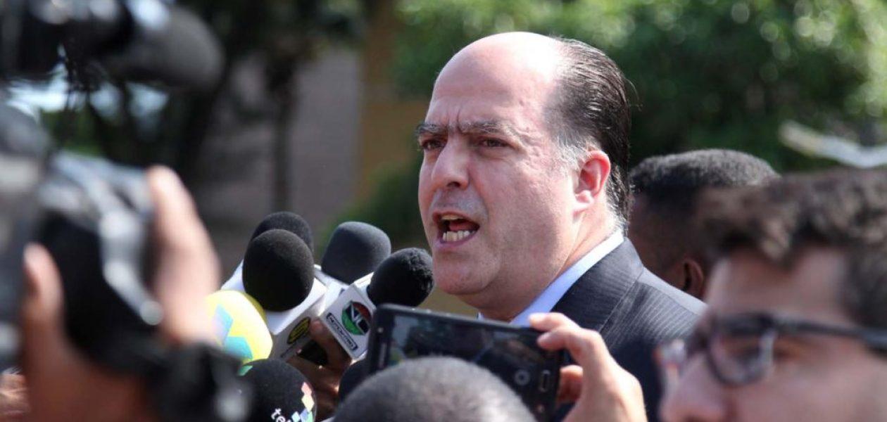Julio Borges: La consigna por la que vamos a luchar es que se hagan las elecciones