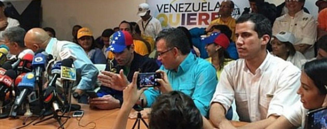 Capriles asegura que marcharán por donde quieran
