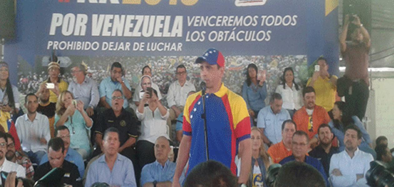 Capriles en rueda de prensa de la MUD: Aquí sí va a haber revocatorio, somos el 80% del país
