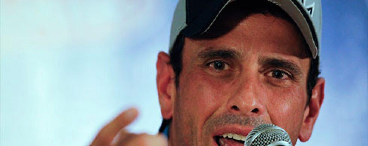 """Capriles asegura que  en Venezuela """"no hay guarimba, lo que hay es hambre"""""""