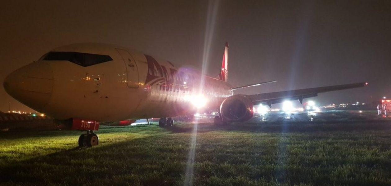 Avión venezolano se salió de la pista en el aeropuerto de Guayaquil