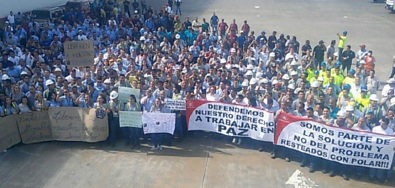 Empresas Polar: trabajadores exigen liberación de detenidos