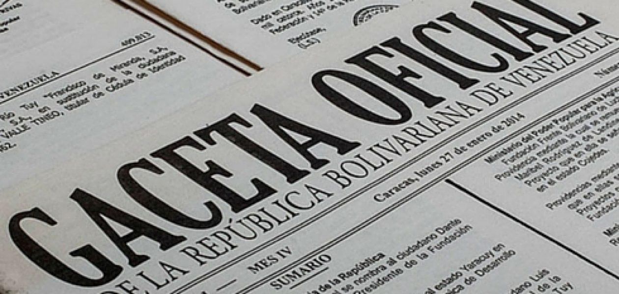 En Gaceta Oficial N° 6.226 aprobación de recursos para pago de ajuste salarial