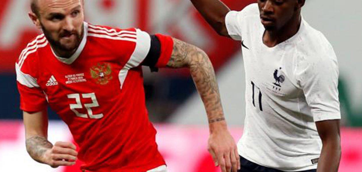FIFA multa a la Federación Rusa por gritos racistas en amistoso con Francia