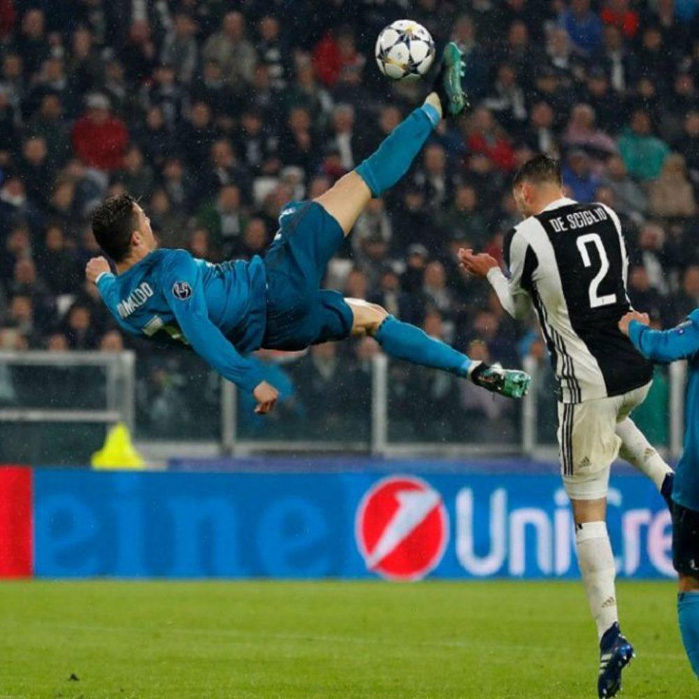 Gol de Cristiano de chilena lo ensayó sobre el césped del Juventus Stadium