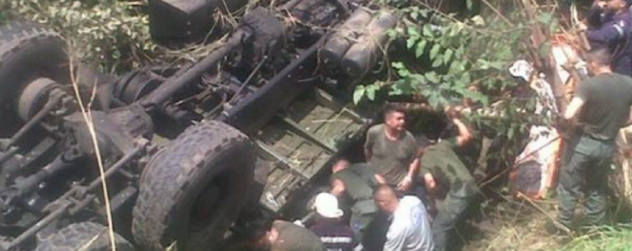 Aumentan a 10 Guardias Nacionales fallecidos en accidente de tránsito en Cojedes