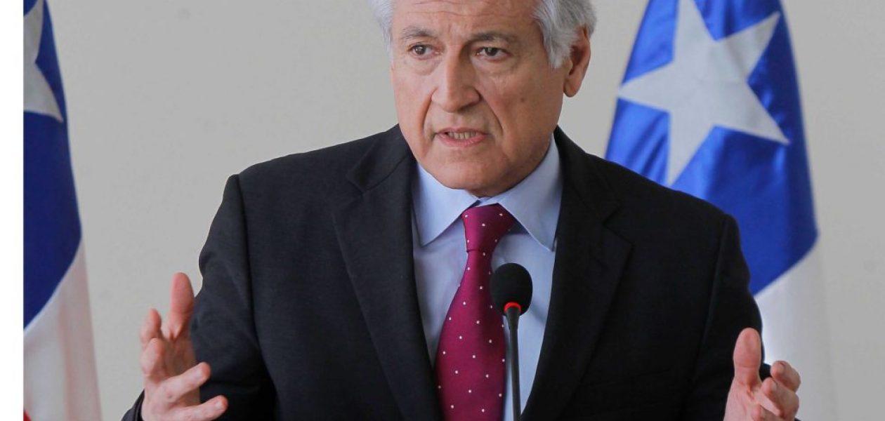 Canciller de Chile denuncia presiones del gobierno para que oposición firme acuerdo