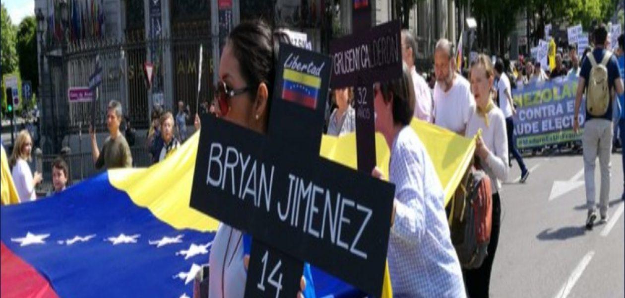 Se registraron protestas  de venezolanos  rechazando elecciones en distintos lugares del mundo
