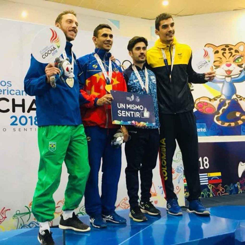 Ruben Limardo gana medalla de oro en los Juegos Suramericanos de Cochabamba