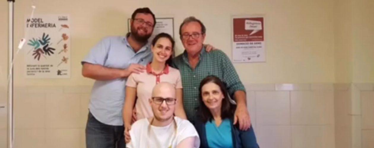 Lanzan un crowdfunding para costear la estancia en España de un venezolano de 25 años recientemente trasplantado de médula