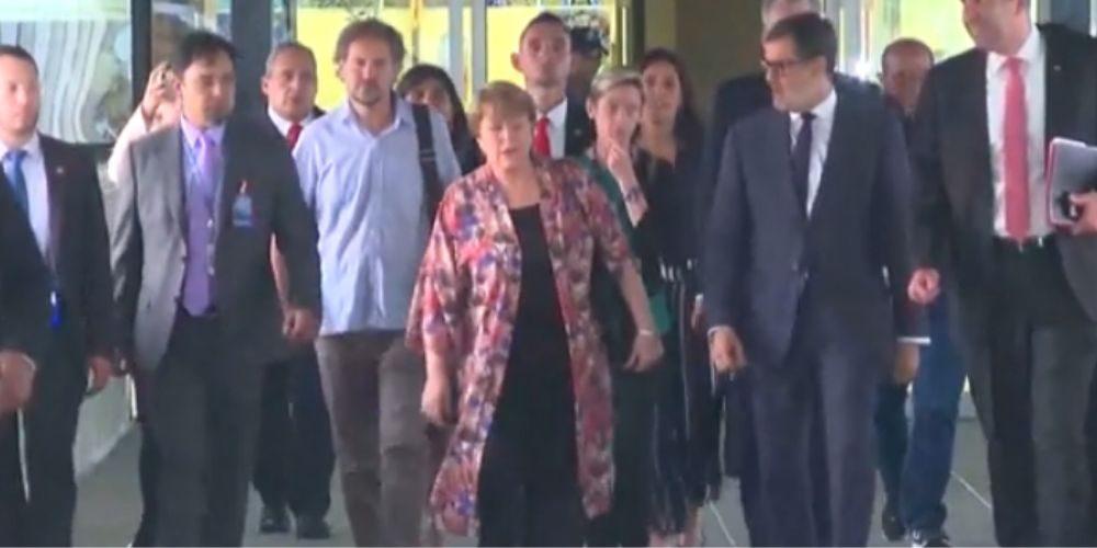 Michelle Bachelet afirmó en su llegada a Caracas promover y proteger los DDHH de todos los venezolanos