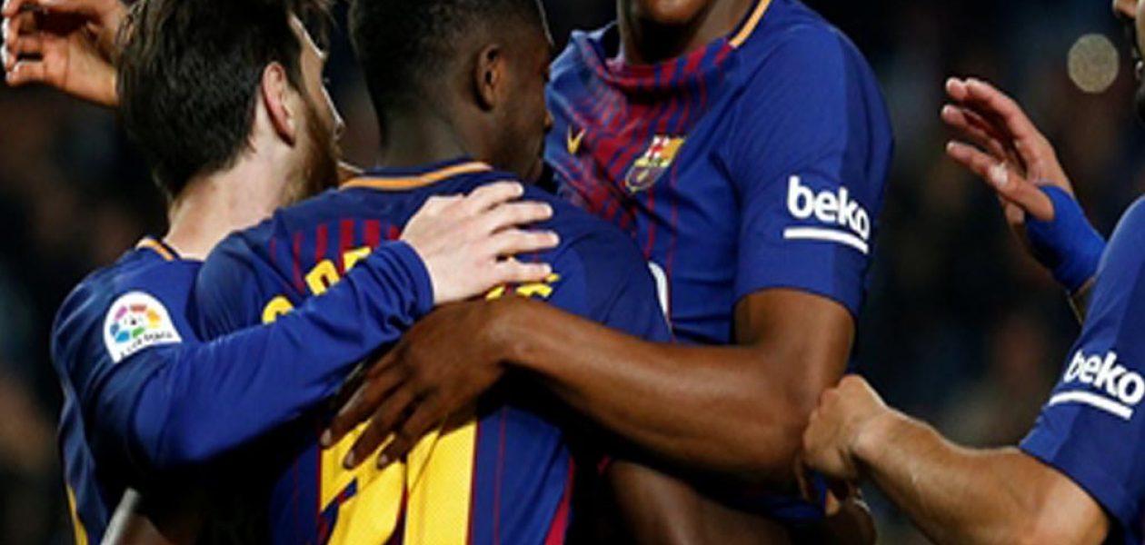 Ousmane Dembélé marcó dos tantos en la goleada del Barcelona al Villarreal 5-1