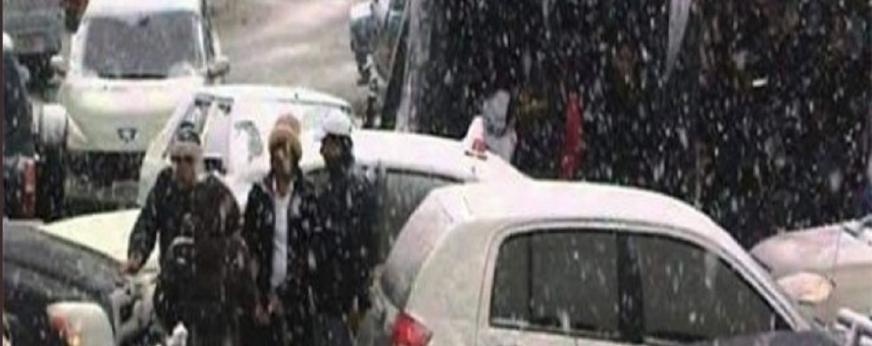 (FOTOS) Usuarios del Twitter reportaron nevada en el «Pico El Águila» de Mérida