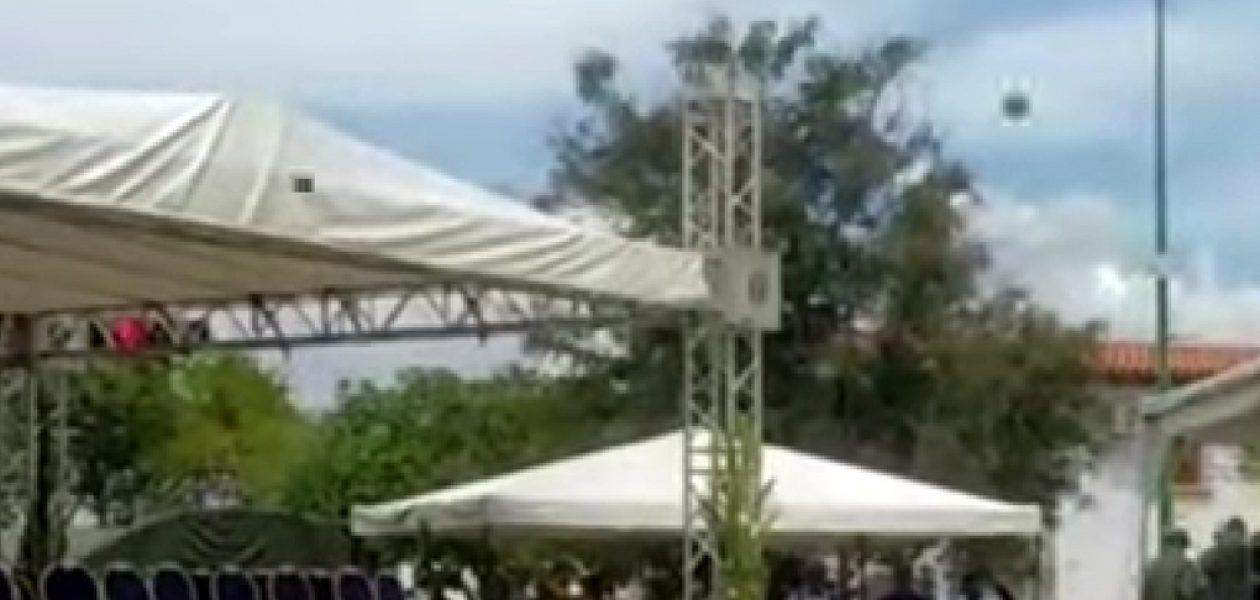 Protesta en contra del gobierno en la procesión de la Divina Pastora
