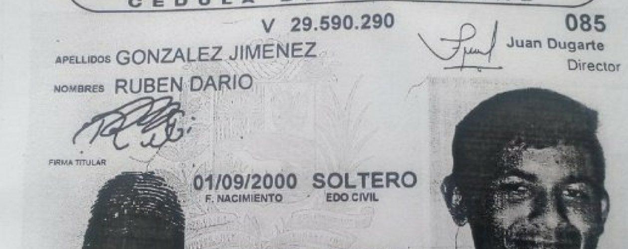Rubén Darío González es la nueva víctima de la represión