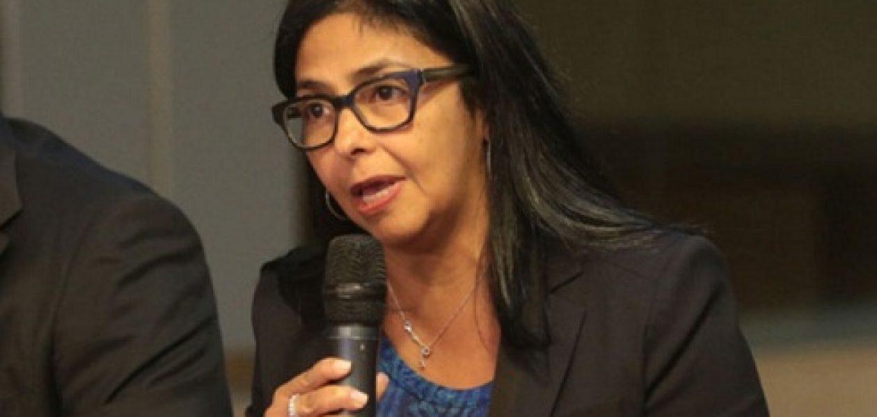 """Delcy Rodríguez: """"Venezuela se retira de la OEA"""""""