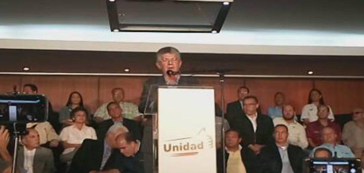 MUD presentó acuerdo de gobernabilidad ante posible renuncia de Maduro