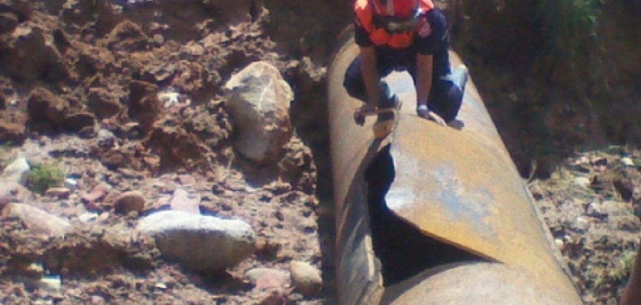 Sin agua ni enseres deja rotura de tubería matriz en Táchira