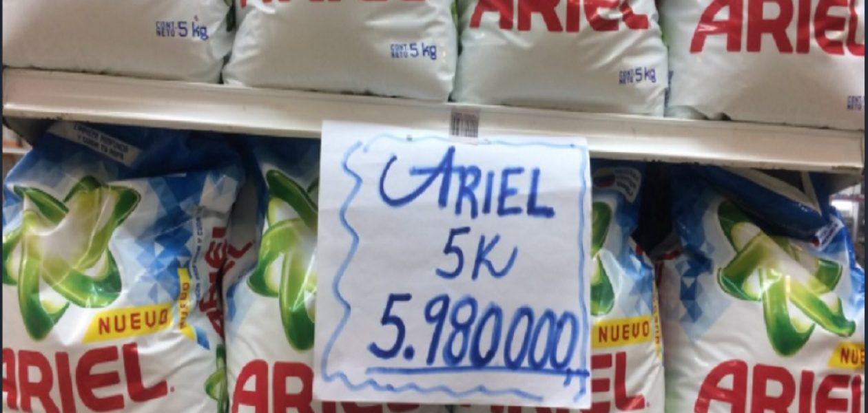 Precios de los alimentos amanecieron sobre el millón de bolívares