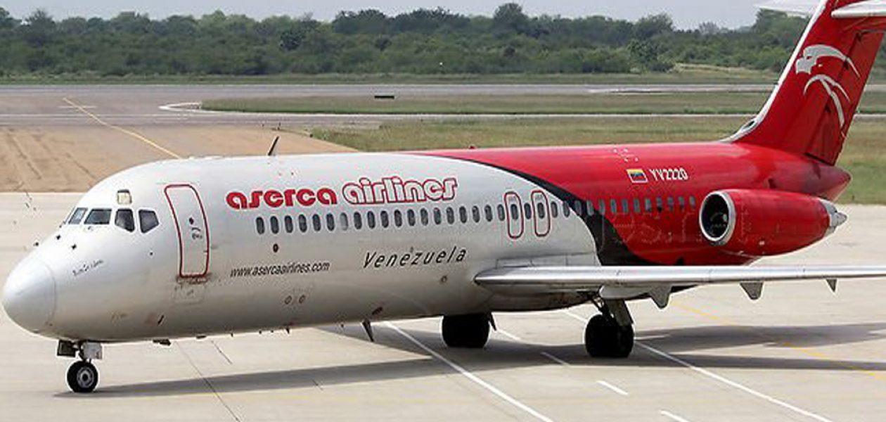 Aserca Airlines suspende temporalmente vuelos entre Caracas y República Dominicana