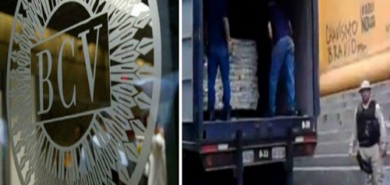 Vea como los blindados del BCV transportan azúcar donde desplazaban oro