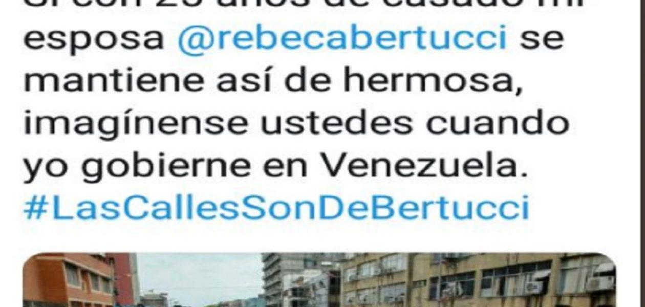 Candidato presidencial Bertucci es tildado de machista por comentario sexista en su Twitter