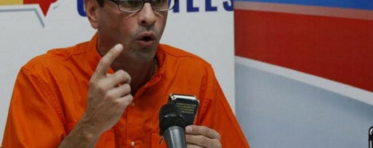Solicitaron prohibición de salida del país para Capriles ante Ministerio Público