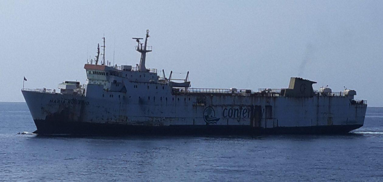 Conferry Puerto La Cruz retiró nave que transportaba comida a Margarita