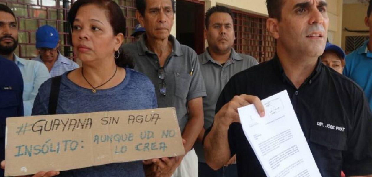 Diputado Prat solicita ante Defensoría investigar a Hidrobolívar por crisis de agua en Guayana