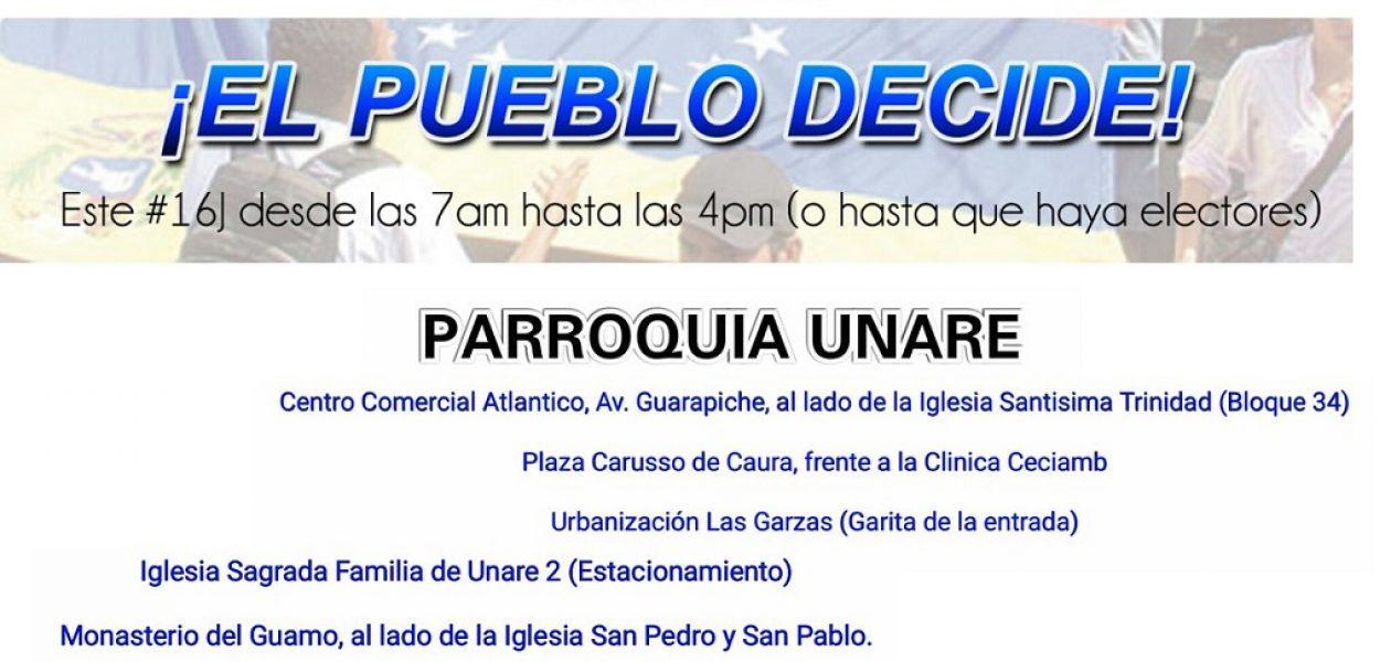 Conoce dónde votar el 16 de julio en Bolívar