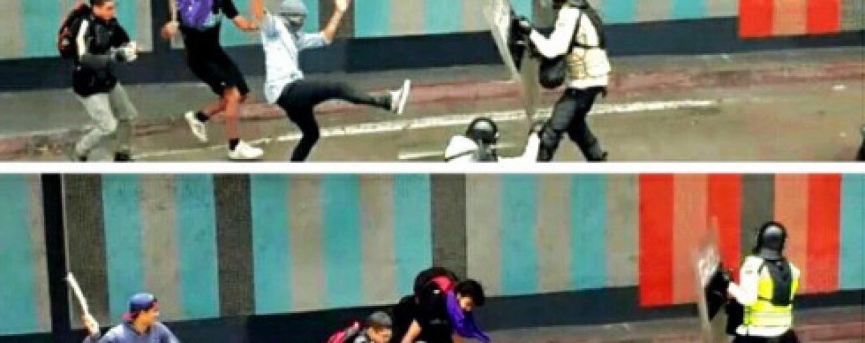 Manifestantes agredieron a funcionarios de la PNB
