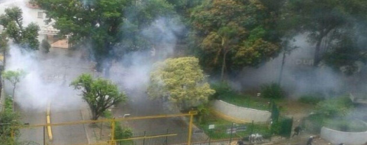 El plantón en Caracas estuvo marcado por la represión