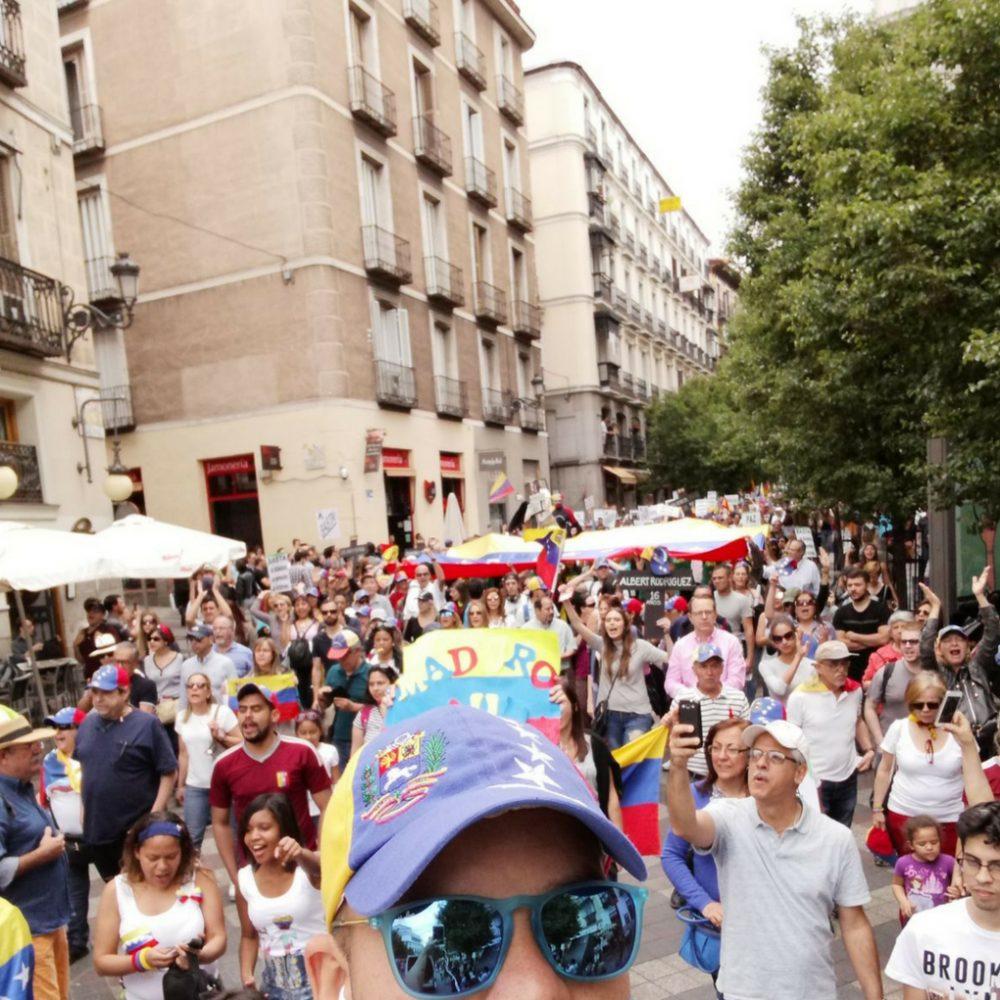 Venezolanos en Madrid alzaron sus voces en contra de las elecciones fraudulentas en el país