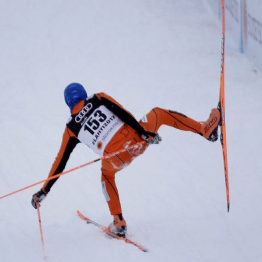 El esquiador venezolano que siguió el ejemplo de su líder