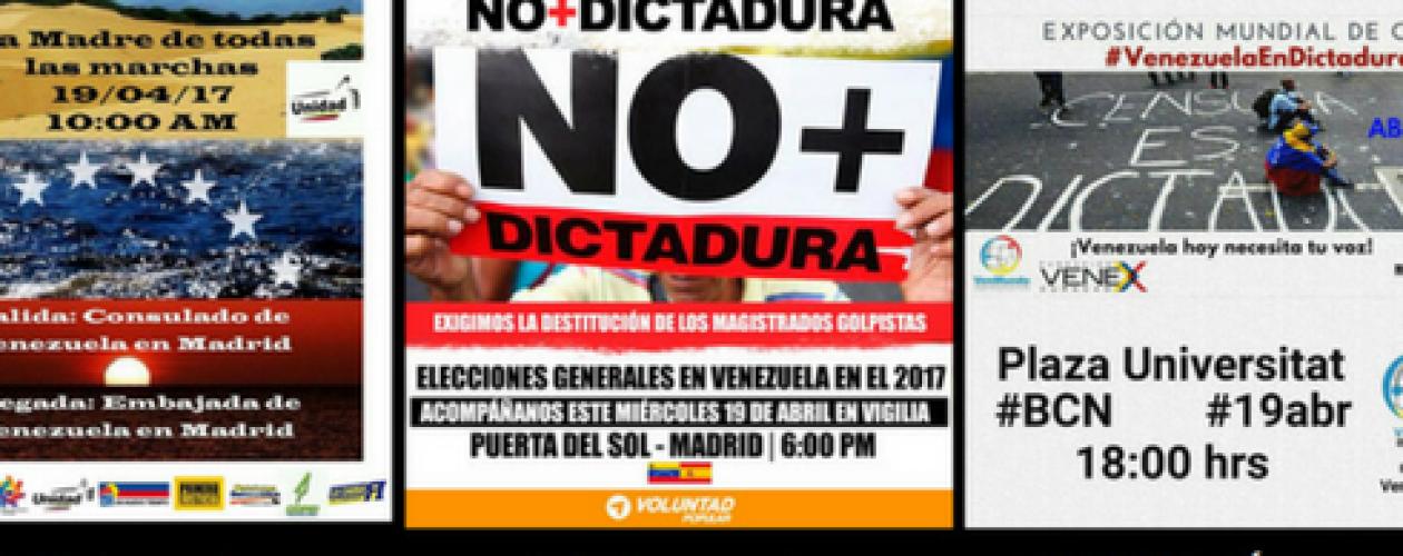 Marcha con vigilia en Madrid y manifestaciones en otras ciudades este 19 de abril