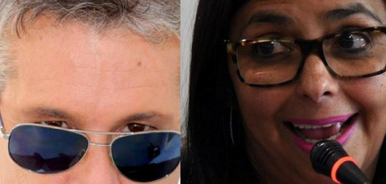 Confesión de amor de Fernando Carrillo a Delcy Rodríguez causó críticas y burlas