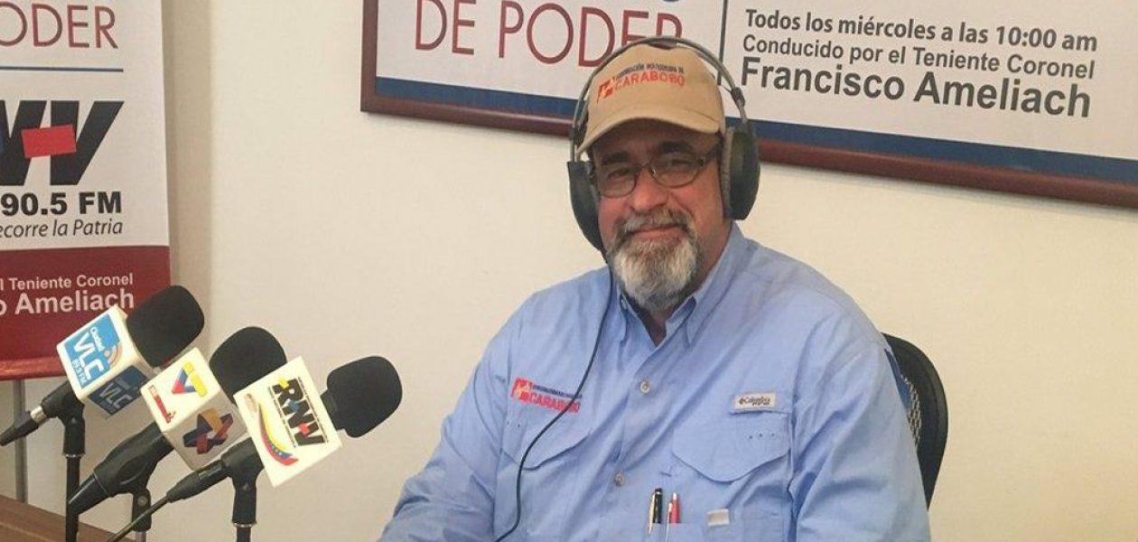 Francisco Ameliach renuncia al cargo de Gobernador de Carabobo