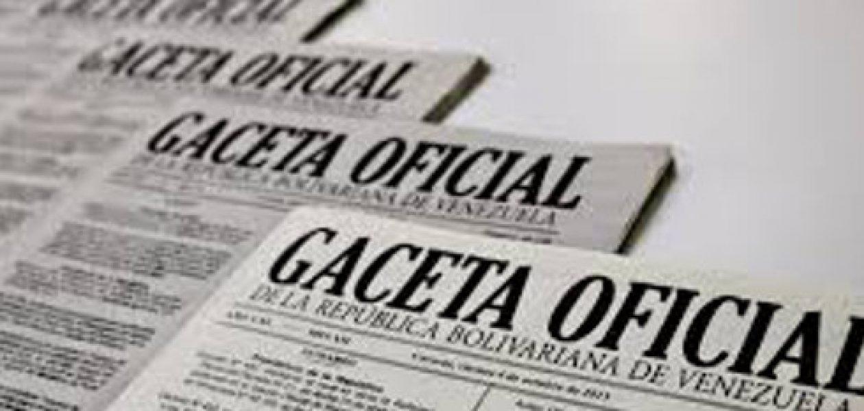 Gaceta 40893 oficializa aumento de sueldo mínimo y bono alimentación