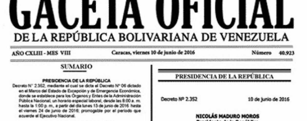 En Gaceta Oficial nuevo horario laboral para empleados públicos