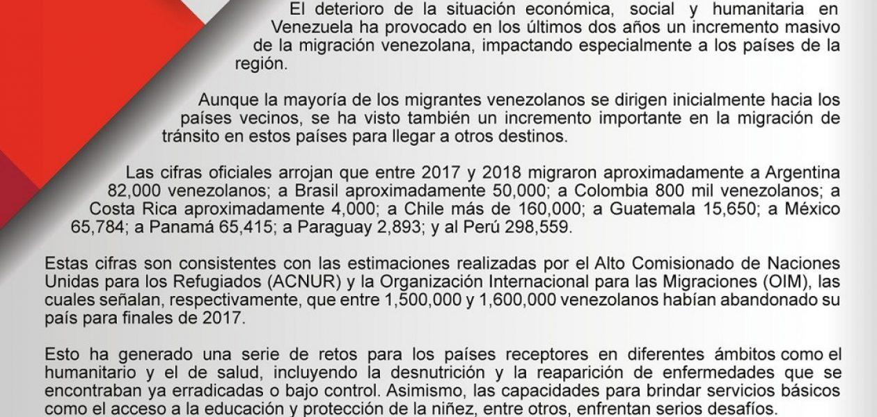 Grupo de Lima rechazó declaraciones de Maduro sobre crisis migratoria en Venezuela