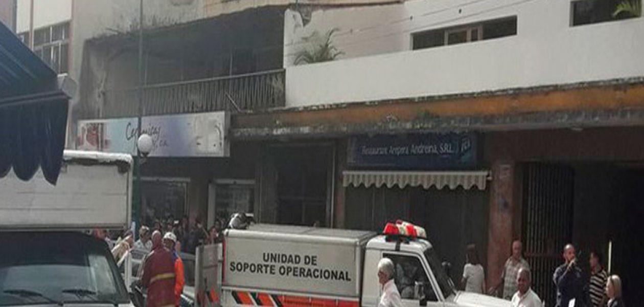 Fuga de gas provoca incendio en Chacao