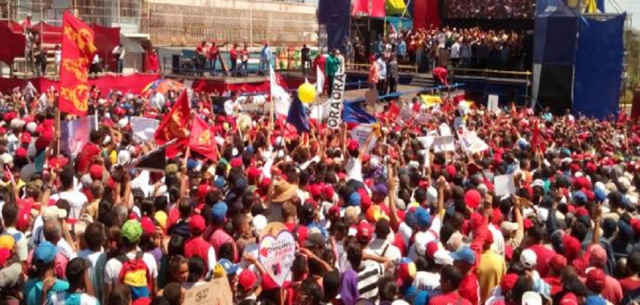 Maduro en Bolívar ni reconoció la crisis ni incursión de guerrilla en minas
