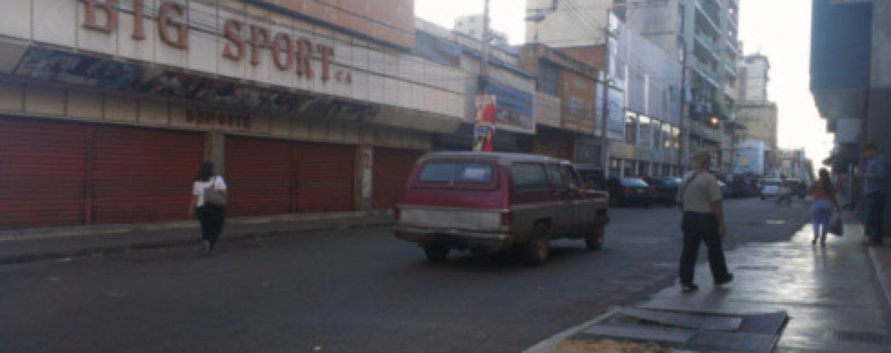 Comercios cerrados y poco tráfico en la Maracay post elecciones